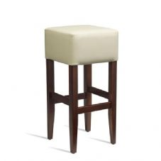 Vanna Heat Bar Stool Dark Walnut Cream